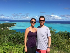 Henry and Lisa in Bora Bora