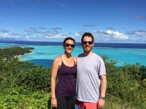 Henry and Lisa in Bora Bora